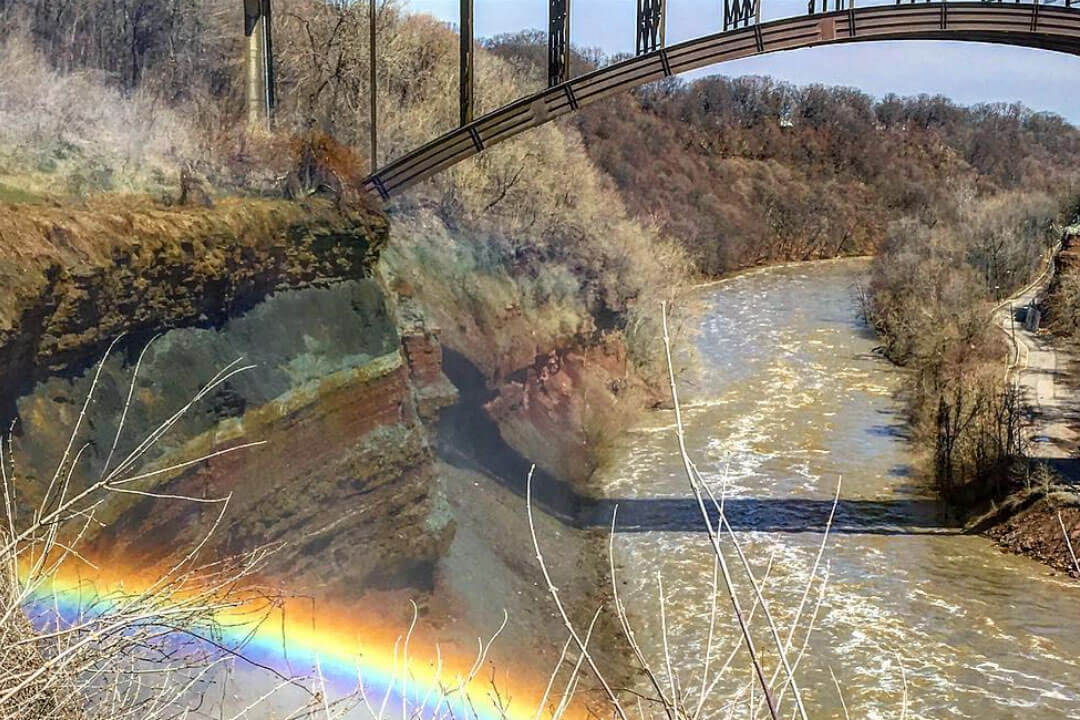 Rainbow by the Lower Falls
