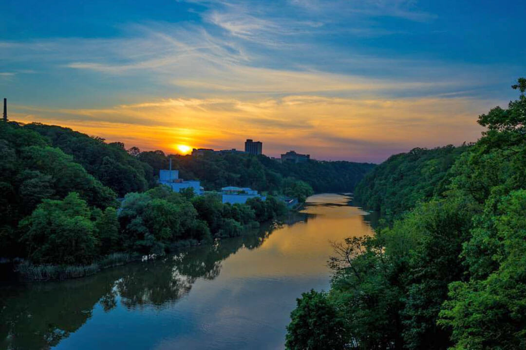 Sunset on the Genesee