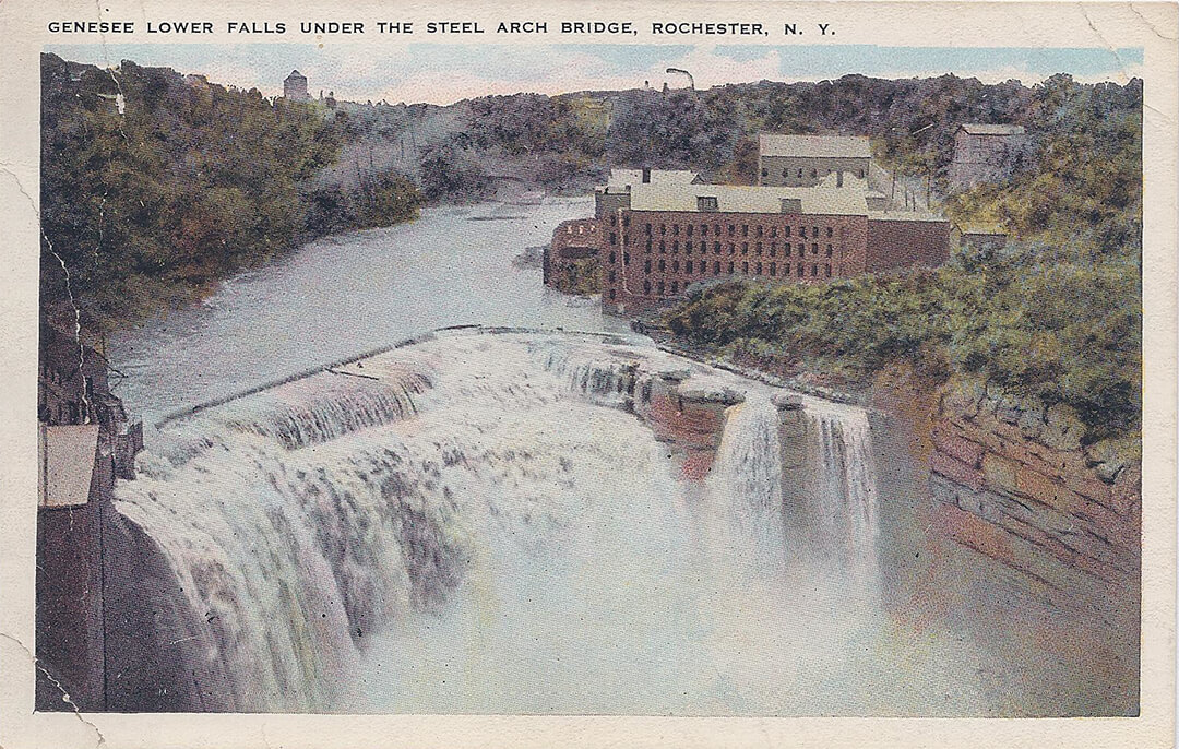 Postcard of the Lower Falls - 1900s