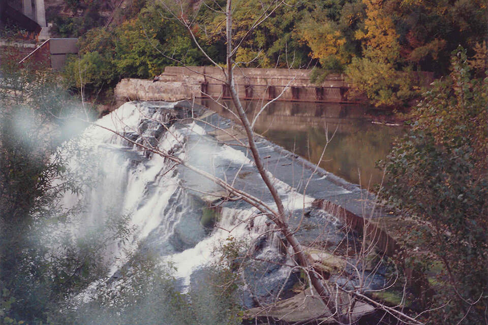 Lower Falls Gorge - right side view from above, high water volume